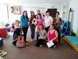 Curs de muzicoterapie organizat pe 27 iunie 2014 de catre Asociatia RENINCO in parteneriat cu World Vision Romania pentru specialistii si parintii din cadrul Centrului de Zi  pentru Recuperarea Copiilor cu Dizabilitati  din sectorul 5